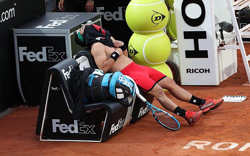 Fognini en el banquillo en el Masters 1000 de Roma
