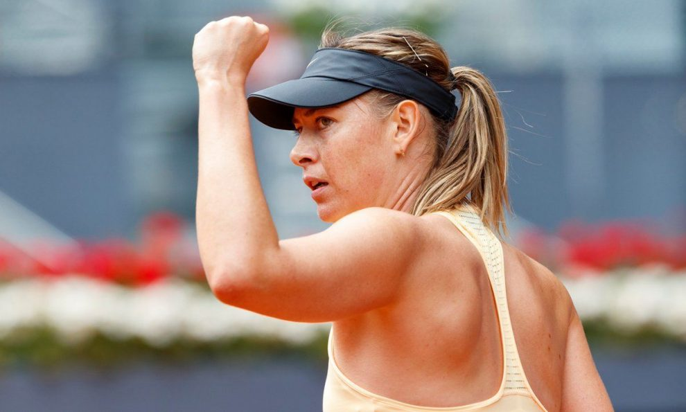 Sharapova celebra un punto en el Mutua Madrid Open