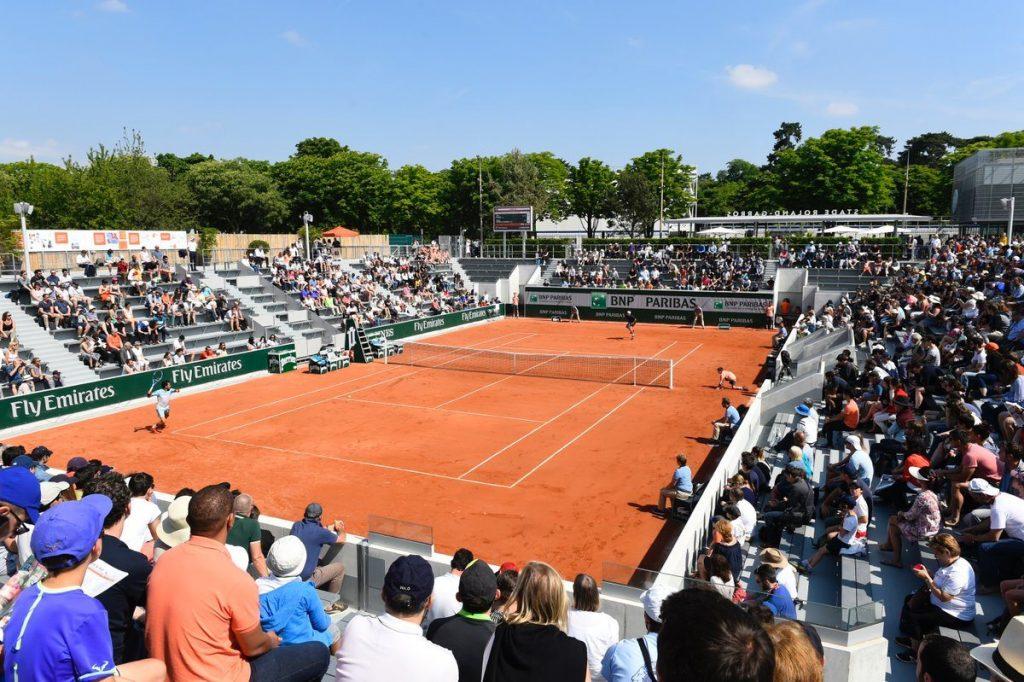 Un partido en las clasificación de Roland Garros