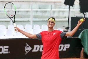 Sonego celebra el pase al cuadro final del Masters 1000 de Roma