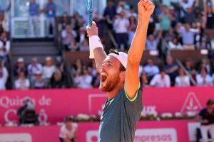 Joao Sousa celebra el título en el ATP de Estoril