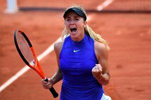 Svitolina celebrando su pase a cuartos de final en Roland Garros 2017