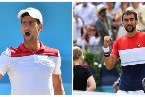 Novak Djokovic y Marin Cilic