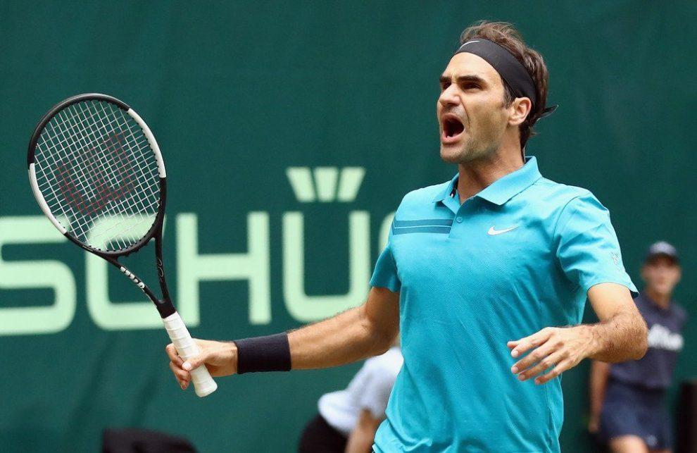 Federer en Halle 2018