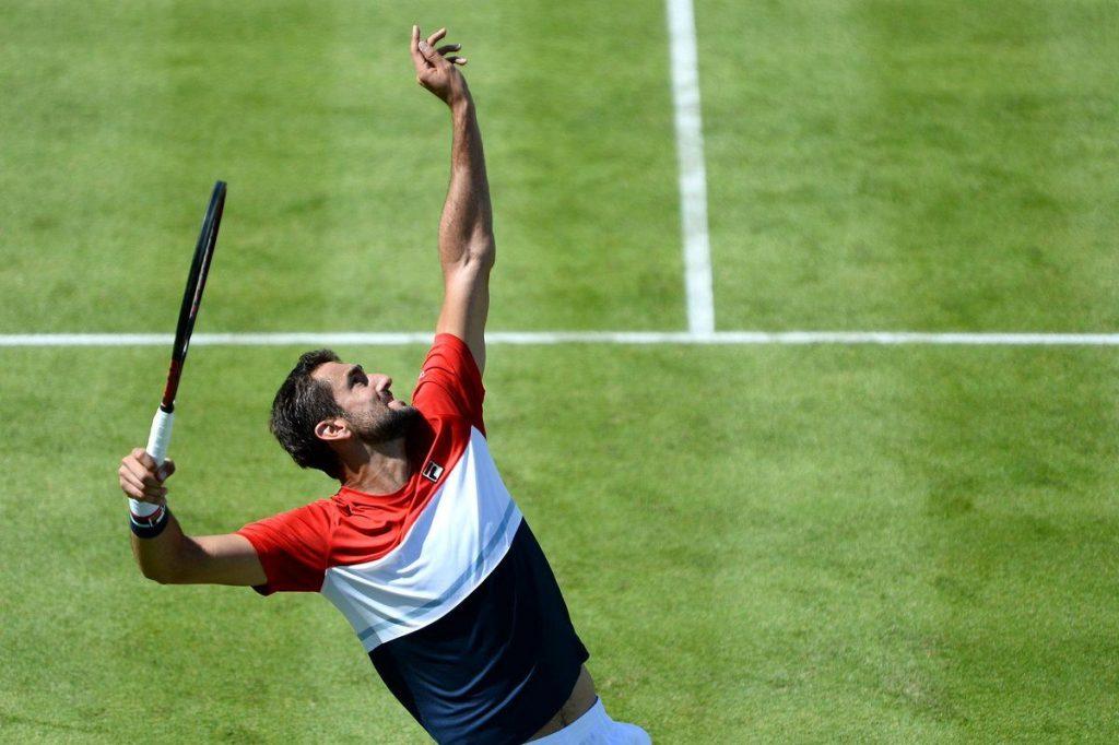 Marin Cilic sacando en el ATP de Queen´s