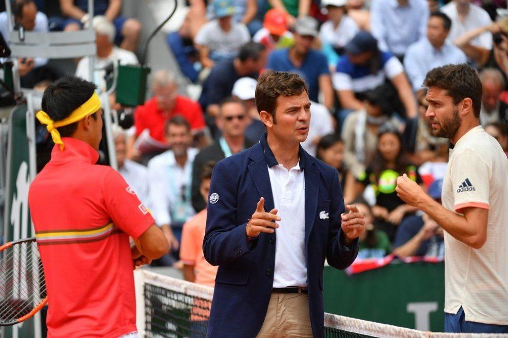 Nishikori y Simon en el sorteo de Roland Garros