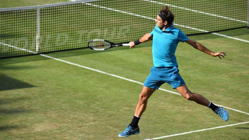 Federer en la final de Stuttgart