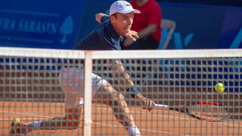 Bautista Agut voleando en el ATP de Gstaad
