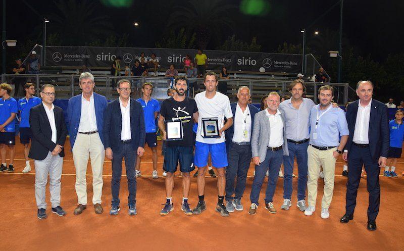 Ceremonia de trofeos en el Challenger de San Benedetto 2018