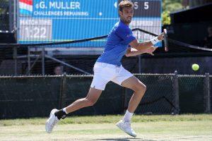 Granoller jugando un partido en el ATP 250 de Newport