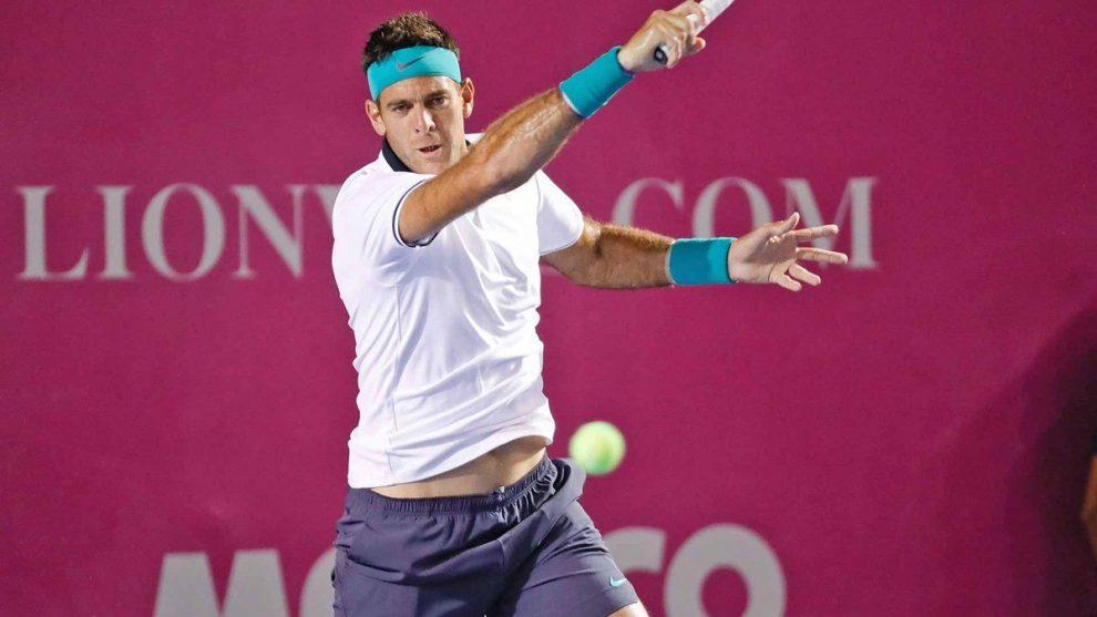 Juan Martín del Potro pegando duro para pasar a la final !Foto: @ATPWorldTour