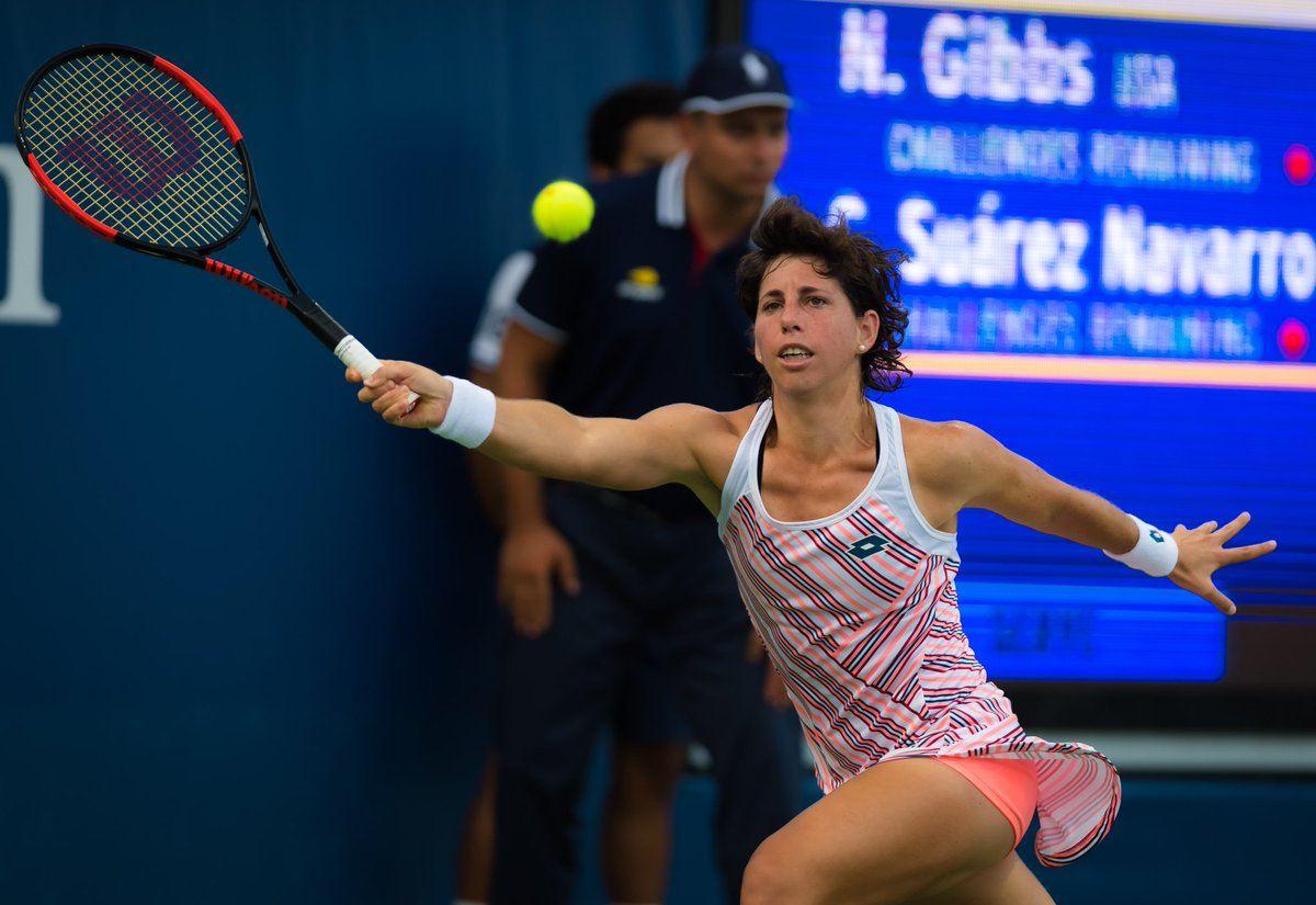 Carla Suárez Navarro en el debut del US Open 2018
