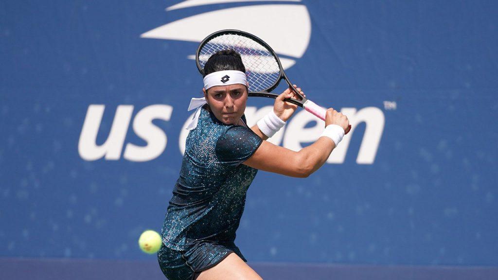 Jabeur jugando la clasificación del US Open 2018