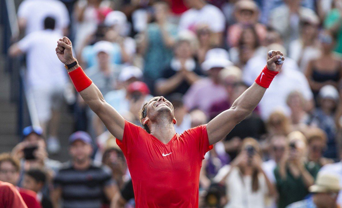Rafa Nadal celebra el 33º Masters 1000 en Toronto 2018