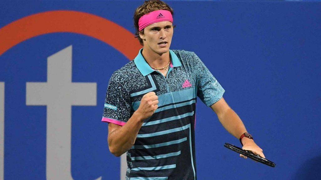 Alexander Zverev celebra un punto en el ATP de Washington