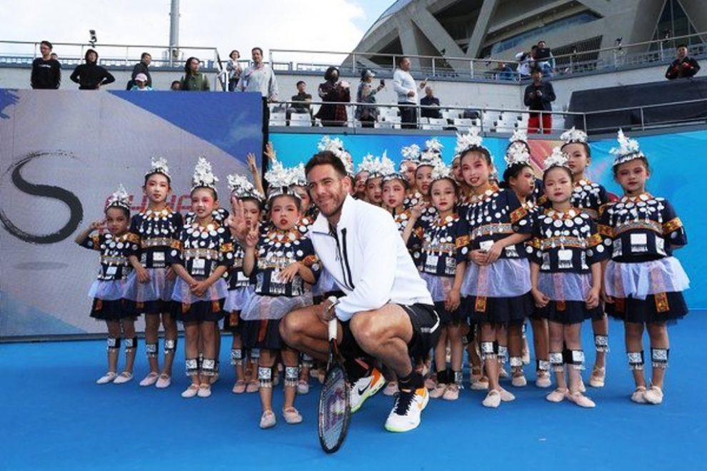 Juan Martín del Potro y la promoción del China Open | Foto: Emmanuel Wong/Getty Images