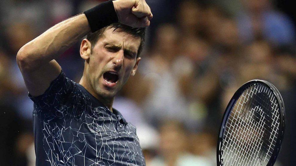 Novak Djokovic festeja su llegada a la final del US Open 2018 Foto: @ATPWorldTour_Es 