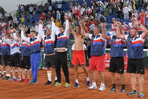 República Checa festeja tras su angustiosa clasificación | Foto@CopaDavis
