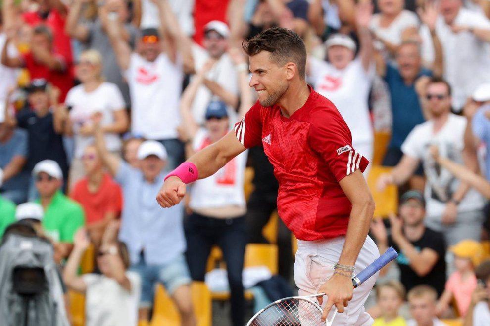 Los dos triunfos de Dominic Thiem aseguraron a Austria en el Grupo Mundial | Foto: @CopaDavis