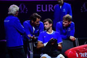 Dimitrov aconsejado por los miembros de Europa en la Laver Cup