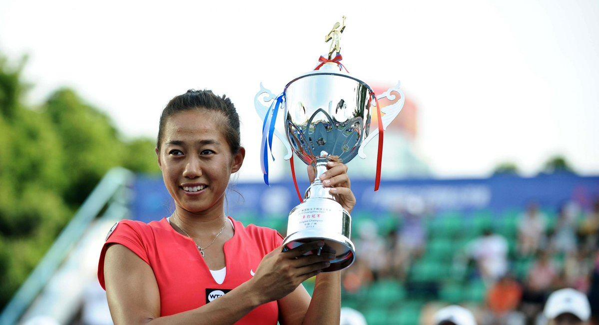 Hsieh posa con el título del WTA de Hiroshima