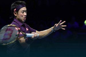Nishikori golpea una derecha en el ATP de Metz