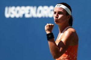Sevastova celebra el pase a semifinales en el US Open 2018