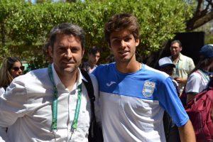 Agustín Calleri, presidente de AAT y Facundo Díaz Acosta Semifinalista en Buenos Aires 2018   Foto: @AATenis