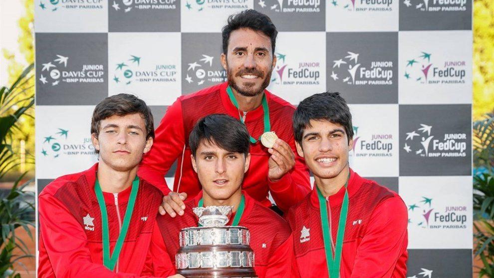 España campeón de la Copa Davis Junior 2018 | Foto: Srdjan Stevanovic