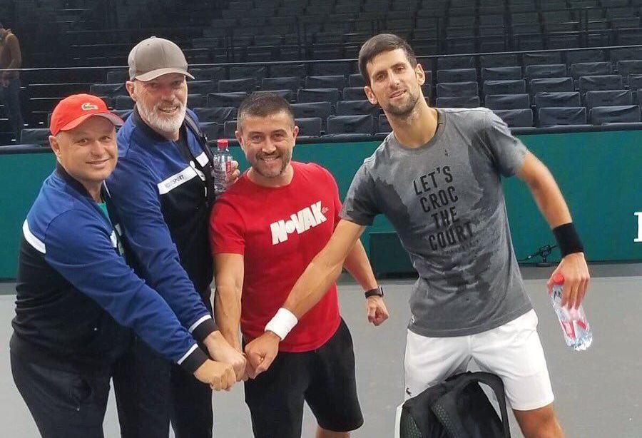 Novak Djokovic y su equipo preparados a dar la batalla en Paris | Foto: @DjokerNole