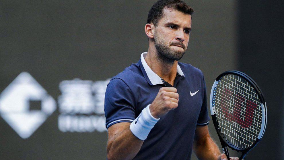 Dimitrov celebra un triunfo en el ATP de Pekín