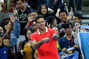 Juan Martín Del Potro celebrando el pase a la final en el ATP de Pekín