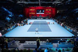 Vista panorámica de un partidos de Next Gen ATP Finals 2017 | Foto: @nextgenfinals