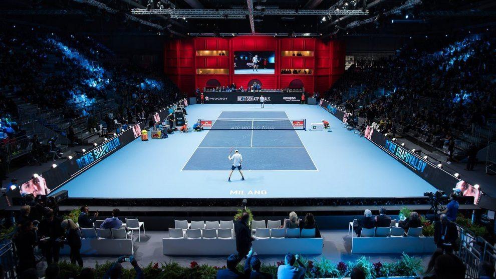 Vista panorámica de un partidos de Next Gen ATP Finals 2017   Foto: @nextgenfinals