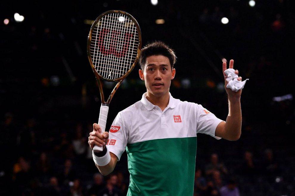 Nishikori celebra una victoria en el Masters 1000 París