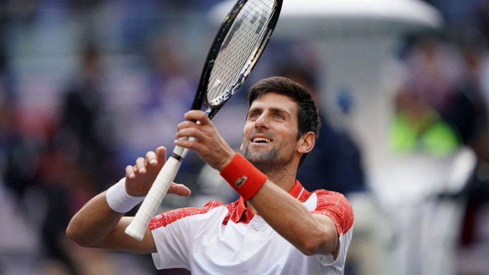 Djokovic celebra el pase a semifinales del Masters 1000 Shanghai
