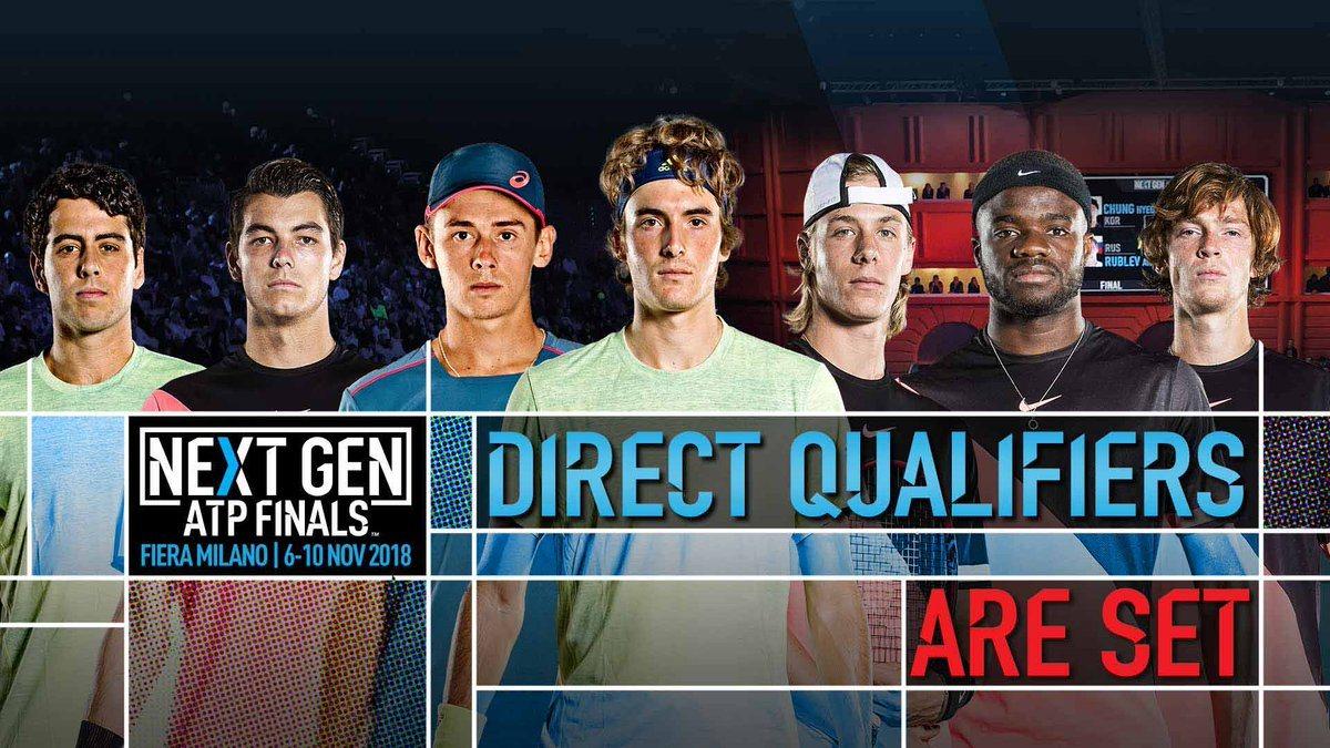 Clasificados a la segunda edición de las Next Gen ATP Finals de Milán