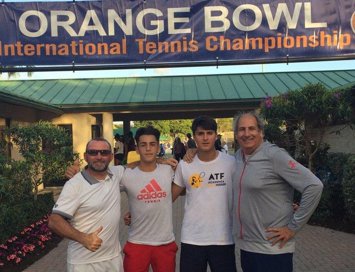 Pablo Llamas, Ángel Guerrero, Toni Colom y Luis Mediero en la Orange Bowl