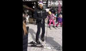 Djokovic esquiando