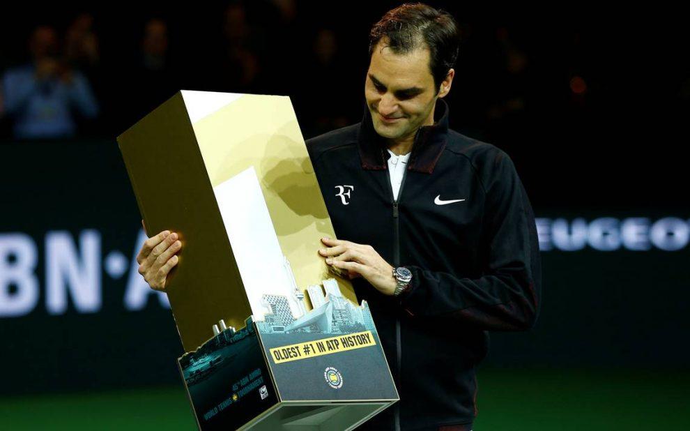 Federer más veterano número 1 ATP