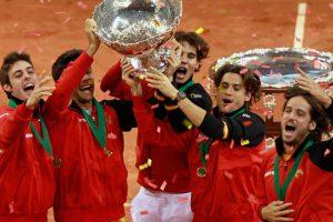 La `Armada Española´ celebra la Copa Davis