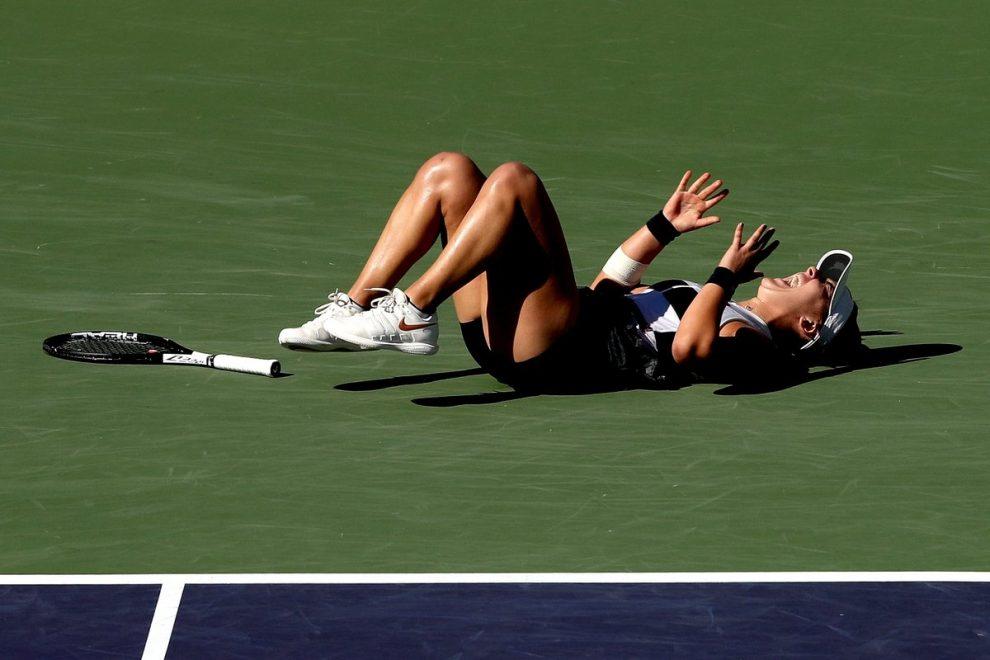 Bianca Andreescu celebra el triunfo en Indian Wells 2019