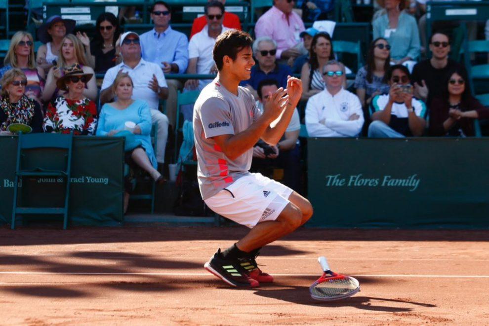 Christian Garín emocionado al ganar el ATP Houston