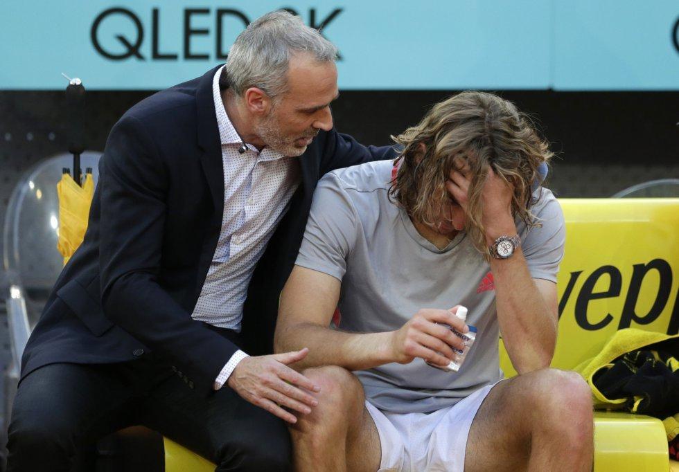 Alex Corretja Stefanos Tsitsipas Mutua Madrid Open 2019