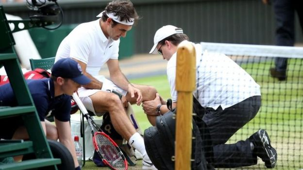 Roger Federer lesión 2016