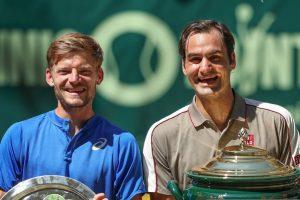 Roger Federer y David Goffin ATP Halle 2019