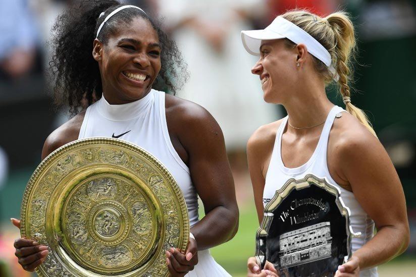 Kerber y Serena Williams Wimbledon 2018