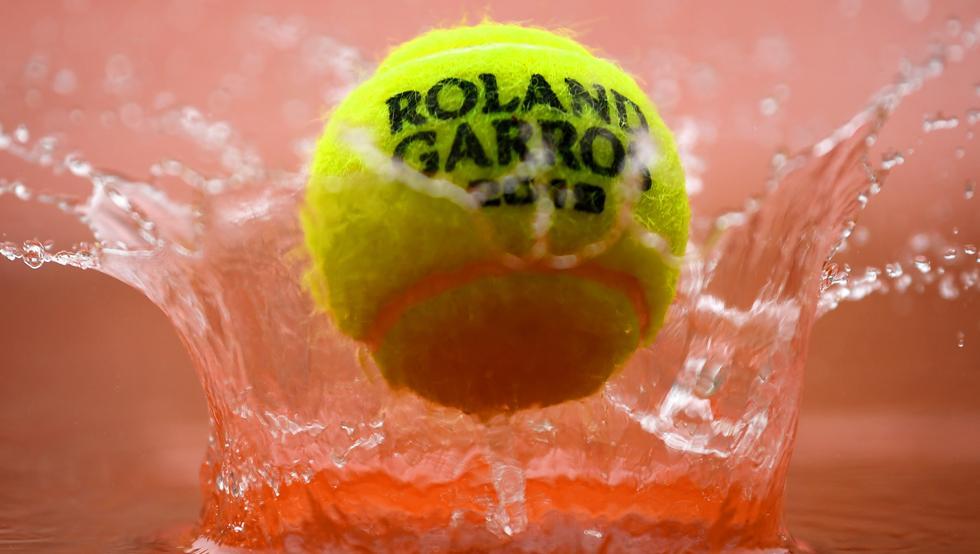 Pelota mojada Roland Garros