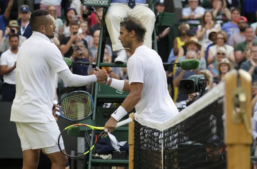 Las declaraciones de Rafa Nadal y Nick Kyrgios tras su partido en Wimbledon