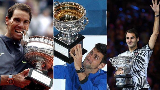 Números `Big Three´ en Grand Slam